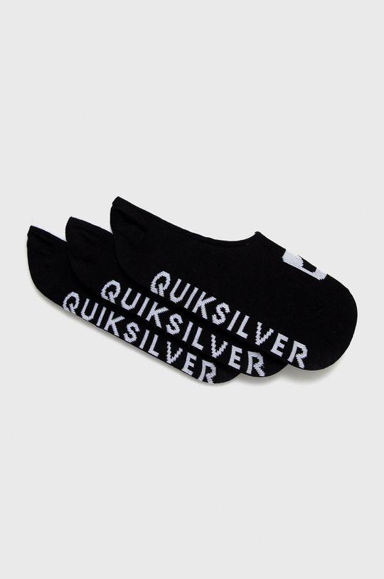 černá Quiksilver - Kotníkové ponožky (3-pack) Pánský