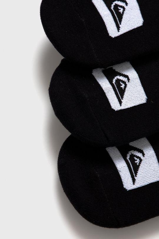 Quiksilver - Kotníkové ponožky (3-pack) černá