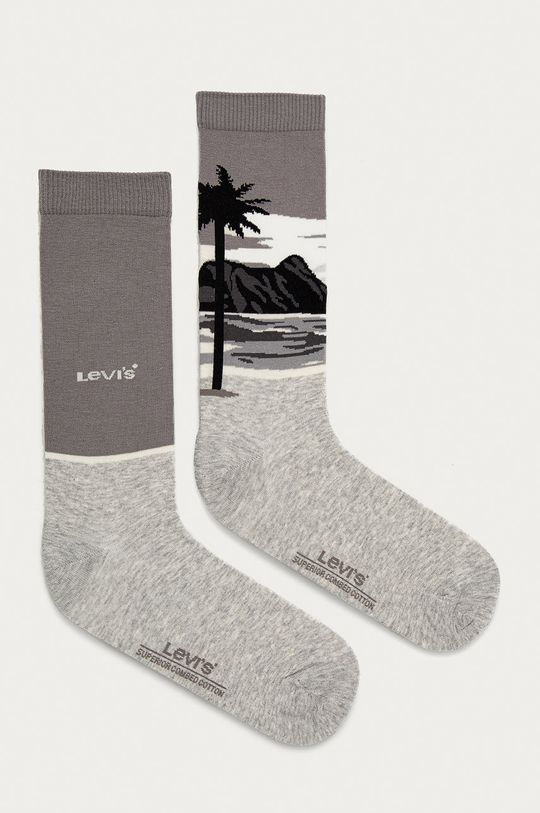 šedá Levi's - Ponožky (2-pack) Pánský