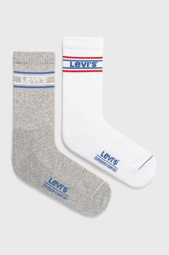 biały Levi's - Skarpetki (2-pack) Męski