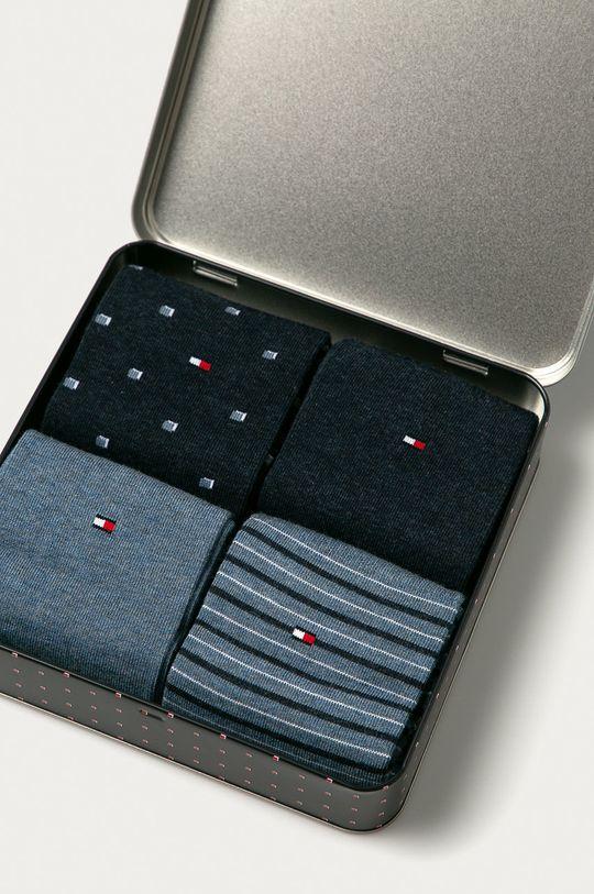 Tommy Hilfiger - Ponožky (4-pack) modrá
