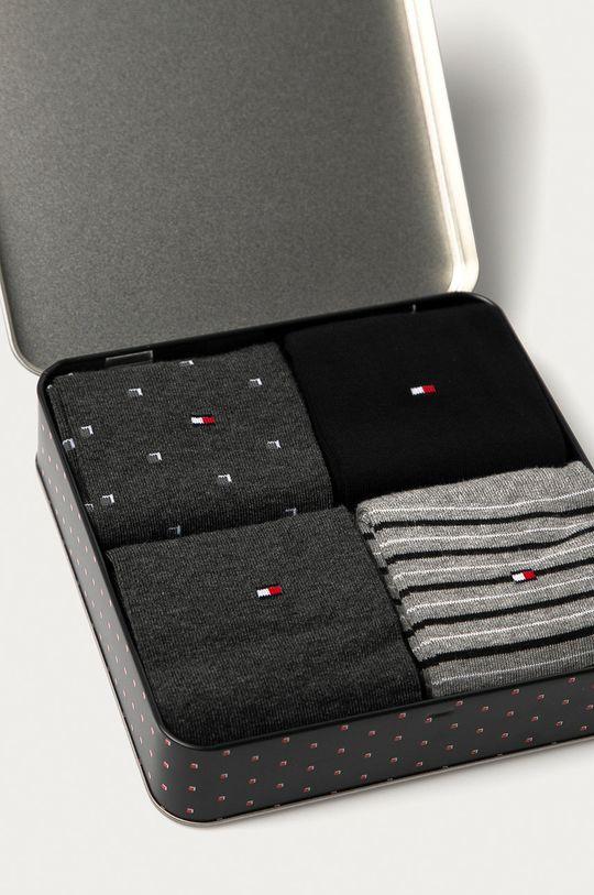Tommy Hilfiger - Ponožky (4-pak) čierna