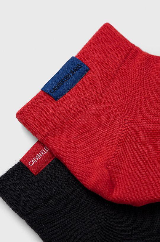 Calvin Klein - Ponožky (2-pack) červená