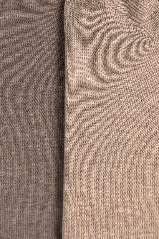Calvin Klein - Ponožky (2-pack) hnědá