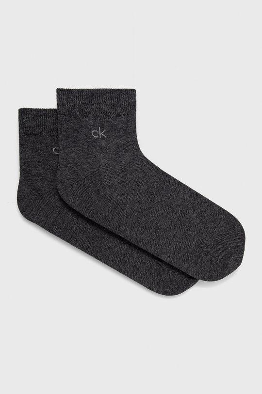 grafitová Calvin Klein - Ponožky (2-pack) Pánský