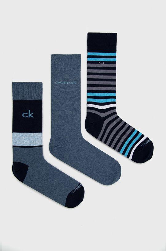tmavomodrá Calvin Klein - Ponožky (3-pak) Pánsky