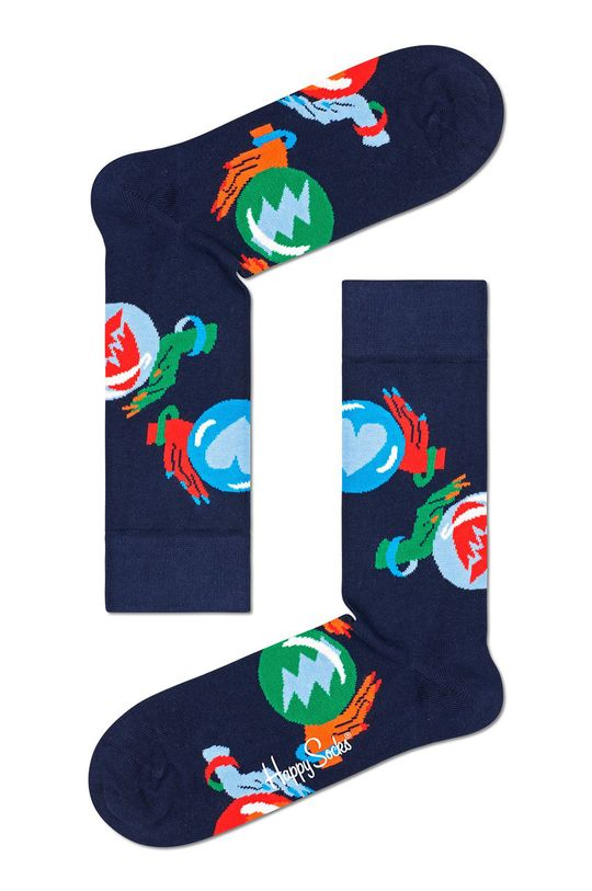 tmavomodrá Happy Socks - Ponožky Fortune Teller Pánsky