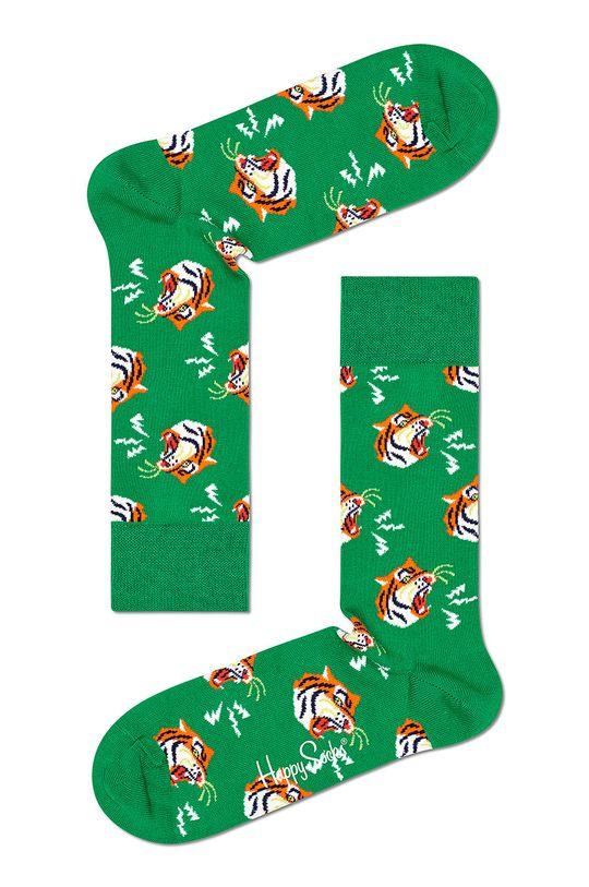 zielony Happy Socks - Skarpety Tiger Męski