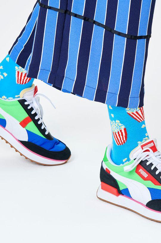 modrá Happy Socks - Ponožky Popcorn Sock Pánský