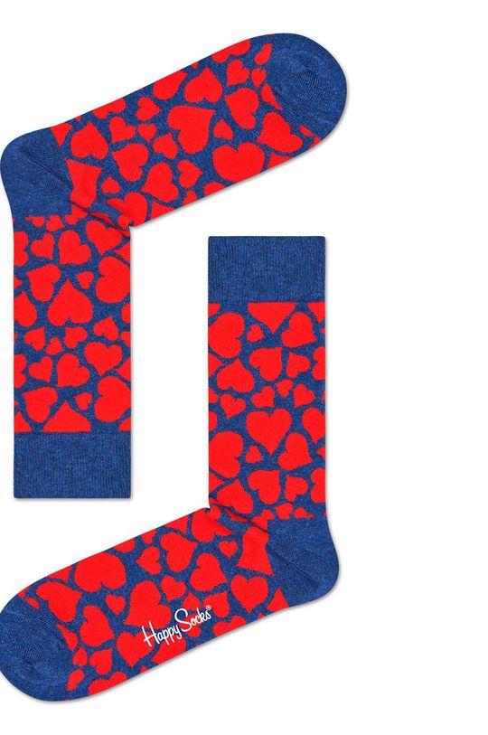 tmavomodrá Happy Socks - Ponožky Heart Pánsky