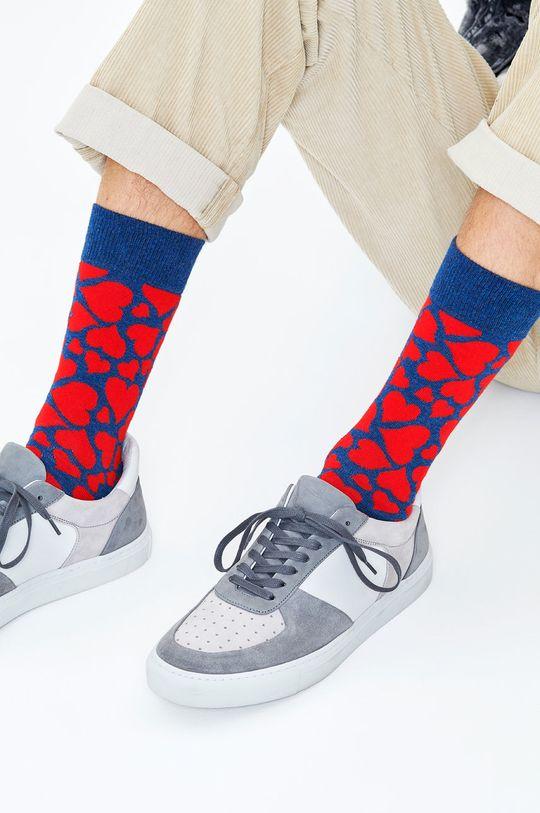Happy Socks - Ponožky Heart tmavomodrá