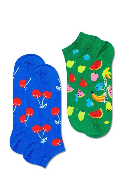 vícebarevná Happy Socks - Ponožky Fruit Low (2-PACK) Pánský