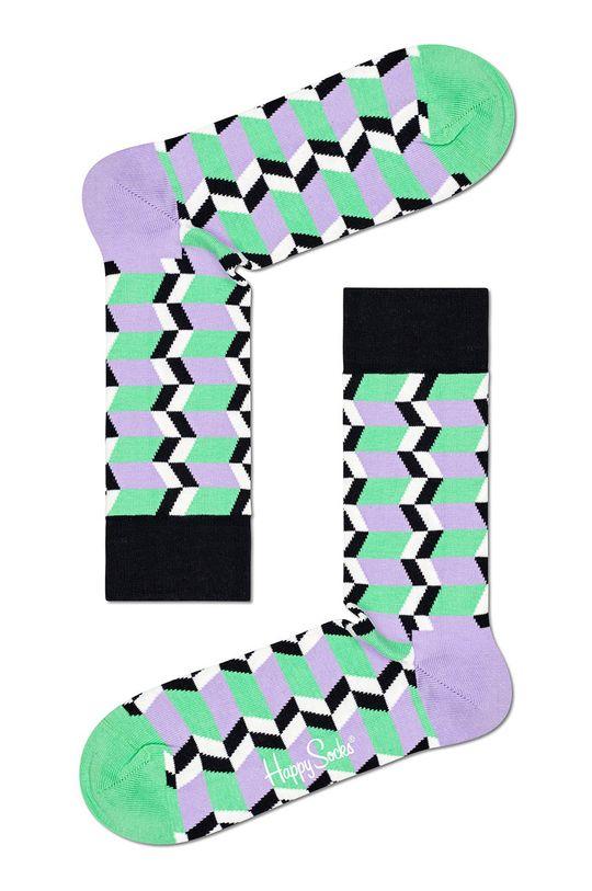 vícebarevná Happy Socks - Ponožky Zig Zag Stripe Pánský