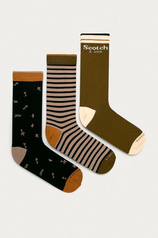 vícebarevná Scotch & Soda - Ponožky (3-pack) Pánský