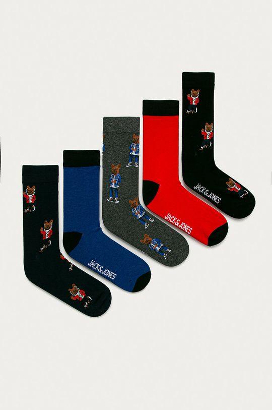 grafitová Jack & Jones - Ponožky (5-pak) Pánsky