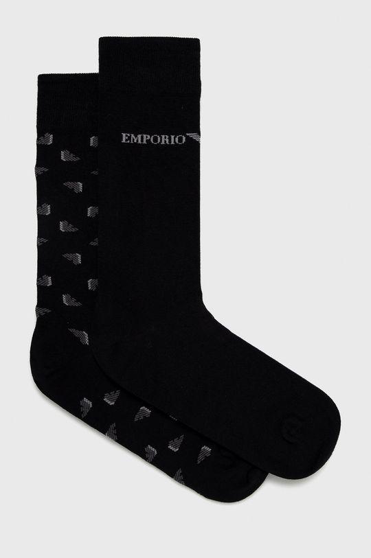 čierna Emporio Armani - Ponožky (2-pak) Pánsky