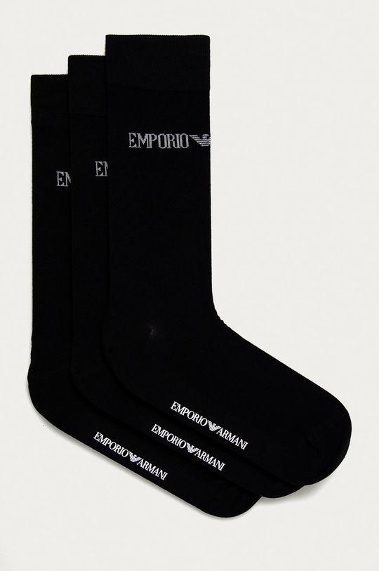 čierna Emporio Armani - Ponožky (3-pak) Pánsky