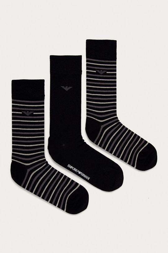 černá Emporio Armani - Ponožky (3-pack) Pánský