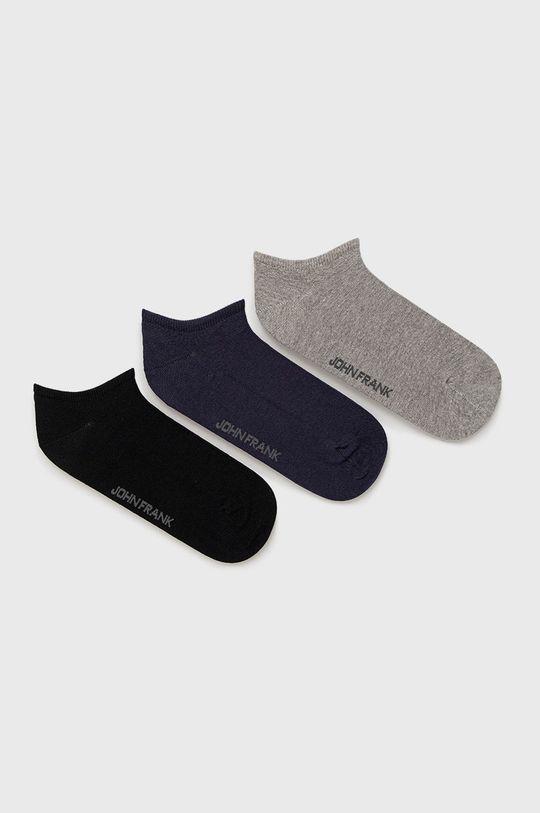 viacfarebná John Frank - Ponožky (3-pak) Pánsky