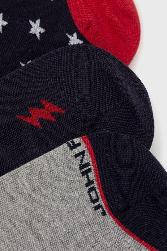 John Frank - Ponožky (3-pack) viacfarebná