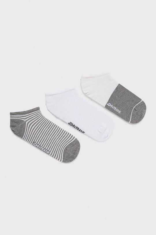 viacfarebná John Frank - Ponožky (3-pack) Pánsky
