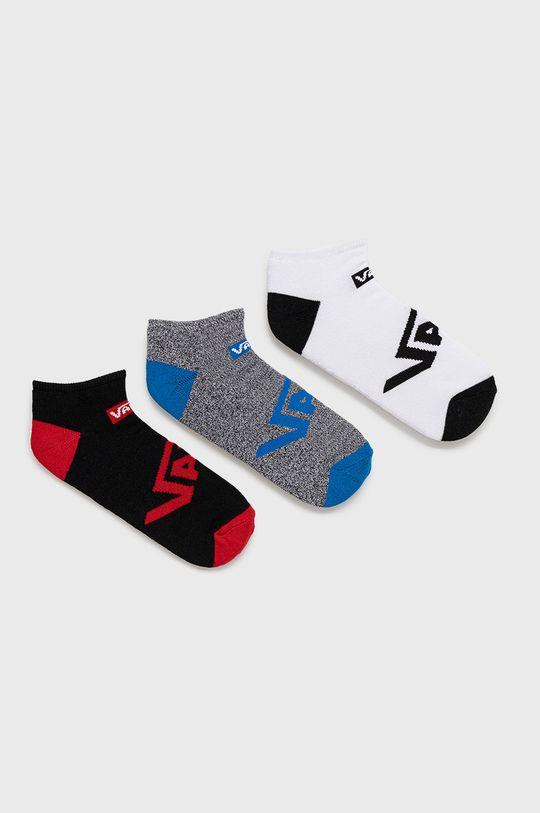 biela Vans - Ponožky (3-pack) Pánsky