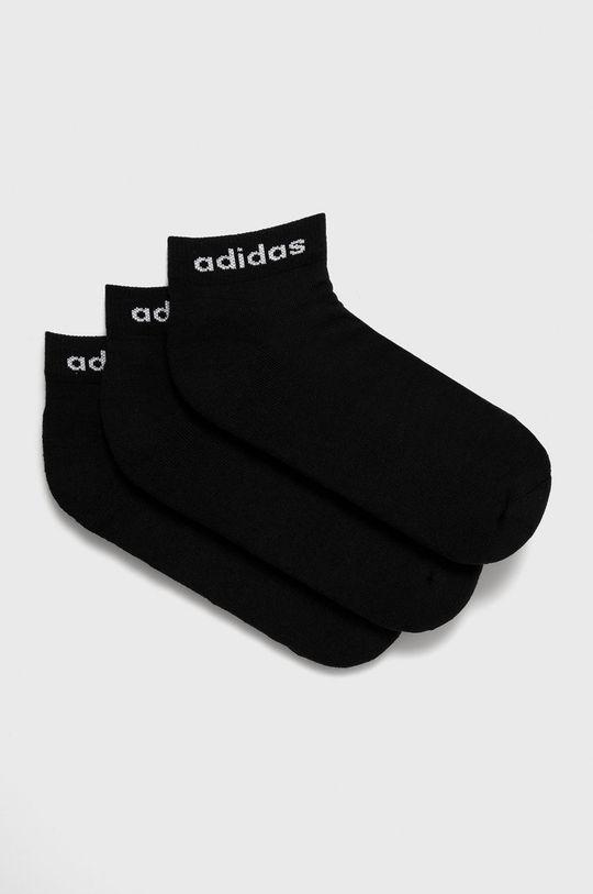 čierna adidas - Ponožky (3-pak) Pánsky
