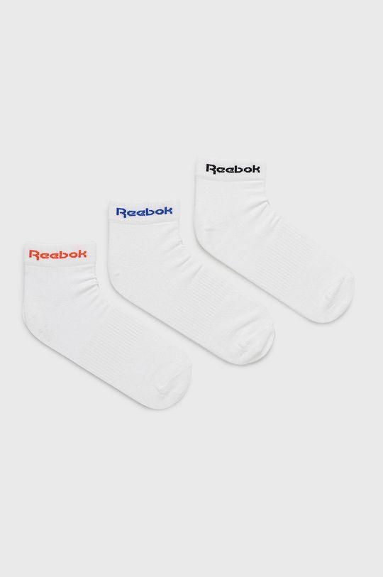 bílá Reebok - Ponožky (3-pack) Pánský