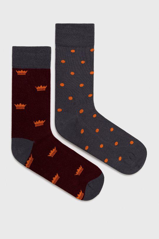 vícebarevná John Frank - Ponožky (2-pack) Pánský