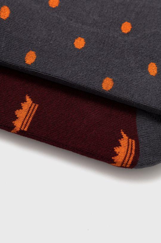John Frank - Ponožky (2-pack)  80% Bavlna, 3% Elastan, 17% Polyamid