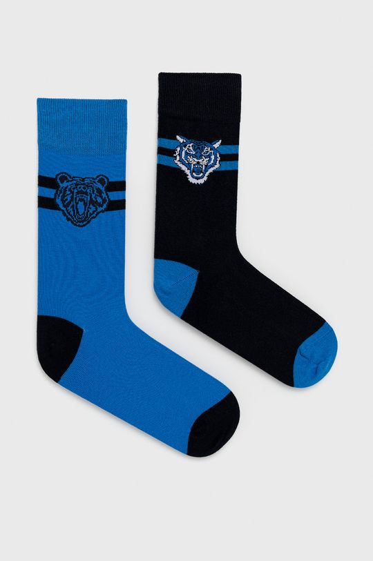 viacfarebná John Frank - Ponožky (2-pak) Pánsky