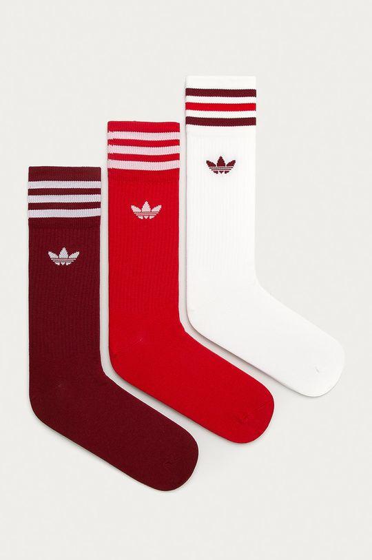 červená adidas Originals - Ponožky (3-pack) Unisex