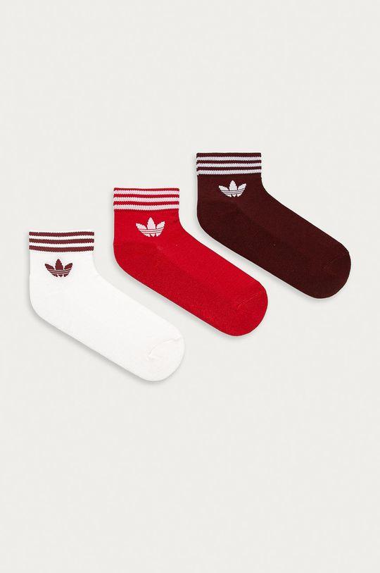 czerwony adidas Originals - Skarpetki (3-pack) Unisex
