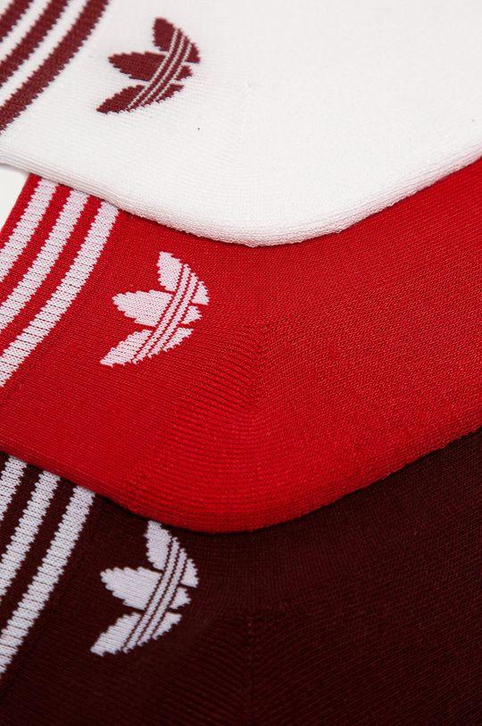 adidas Originals - Skarpetki (3-pack) czerwony