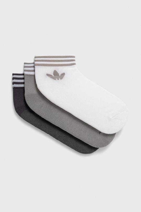 světle šedá adidas Originals - Ponožky (3-pack) Unisex