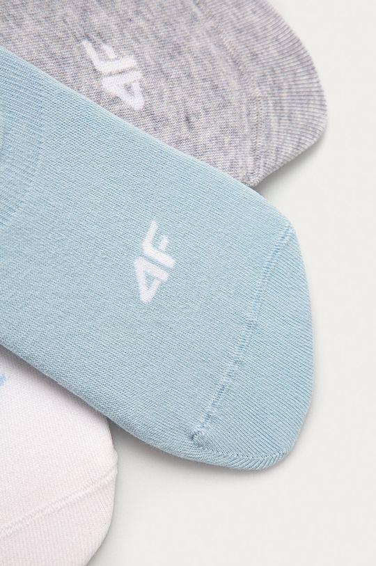 4F - Ponožky (3-pak) biela