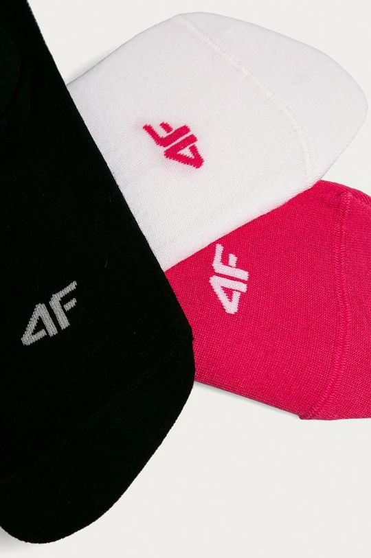 4F - Sosete (3-pack) roz ascutit