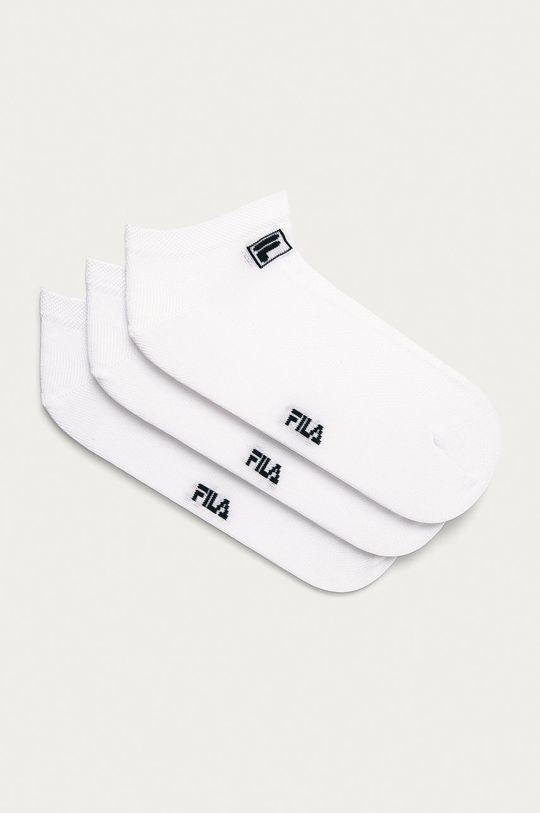 bílá Fila - Ponožky (3-pack) Unisex