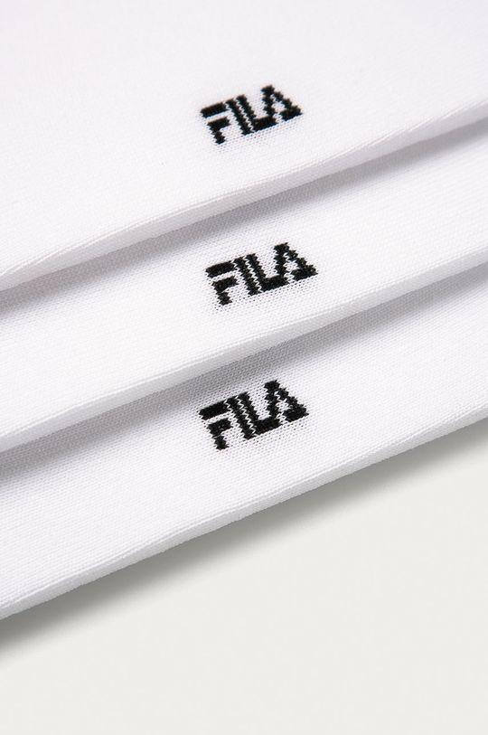 Fila - Kotníkové ponožky (3-pack) bílá