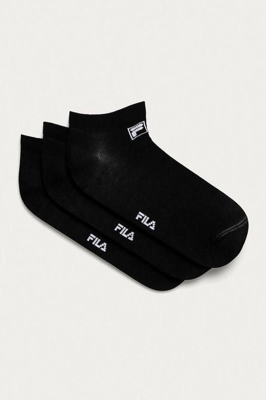 czarny Fila - Stopki (3-pack) Unisex