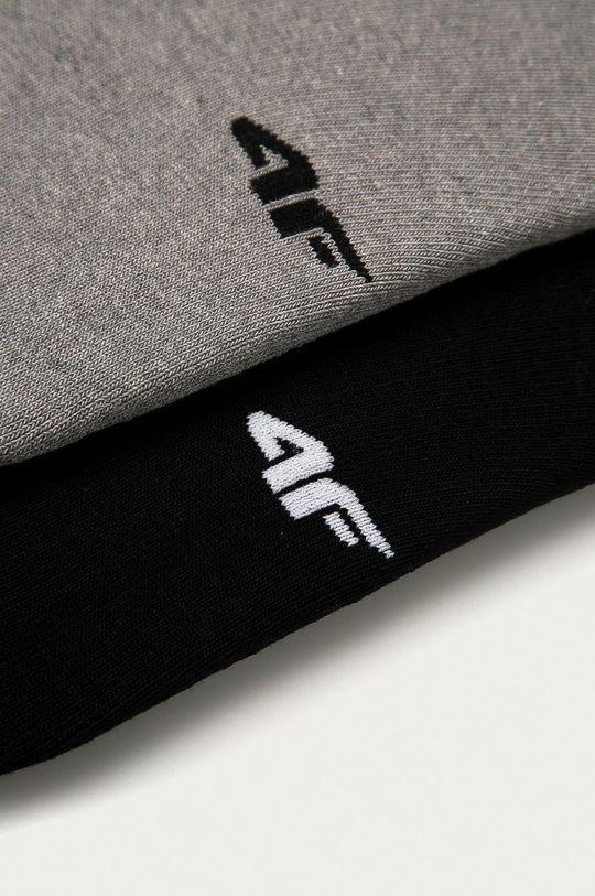 4F - Ponožky (2-pack) světle šedá