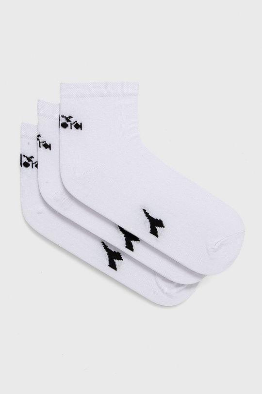 biela Diadora - Ponožky (3-pak) Unisex