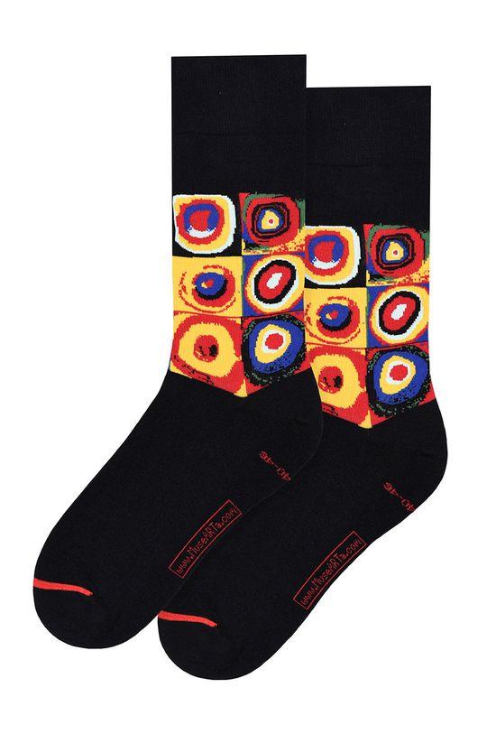 vícebarevná MuseARTa - Ponožky Vasily Kandinsky - Squares with Concentric Circles Unisex