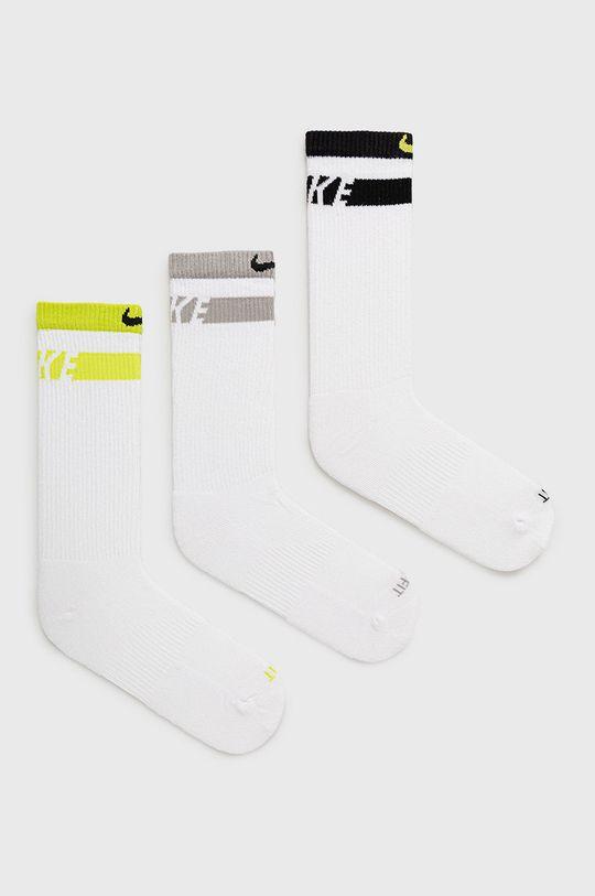 biela Nike - Ponožky (3-pak) Unisex