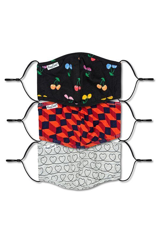 multicolor Happy Socks - Maseczka ochronna wielorazowego użytku (3-PACK) Unisex
