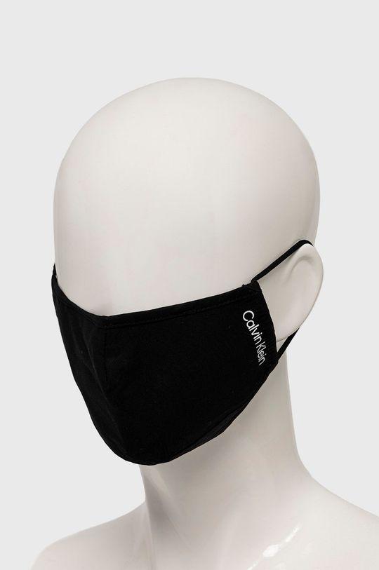 Calvin Klein Jeans - Ochranné rúško na viacnásobné použitie čierna