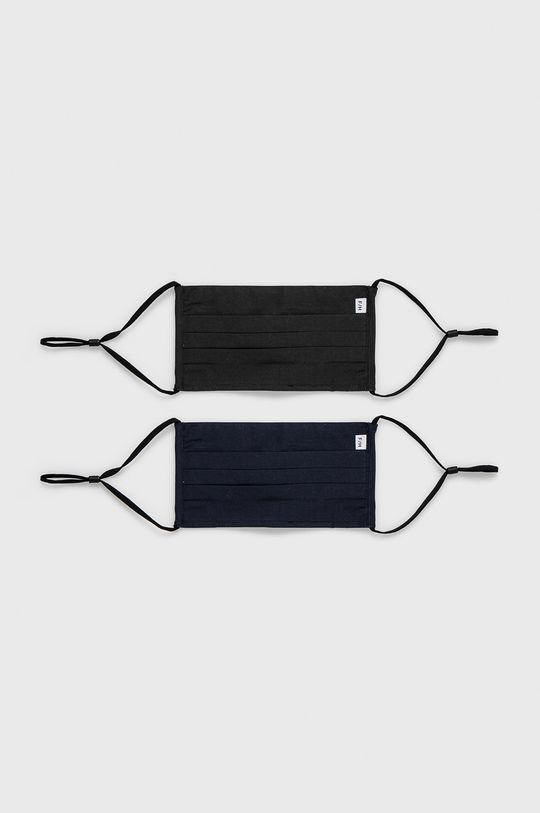 czarny Selected - Maseczka ochronna (2-pack) Unisex