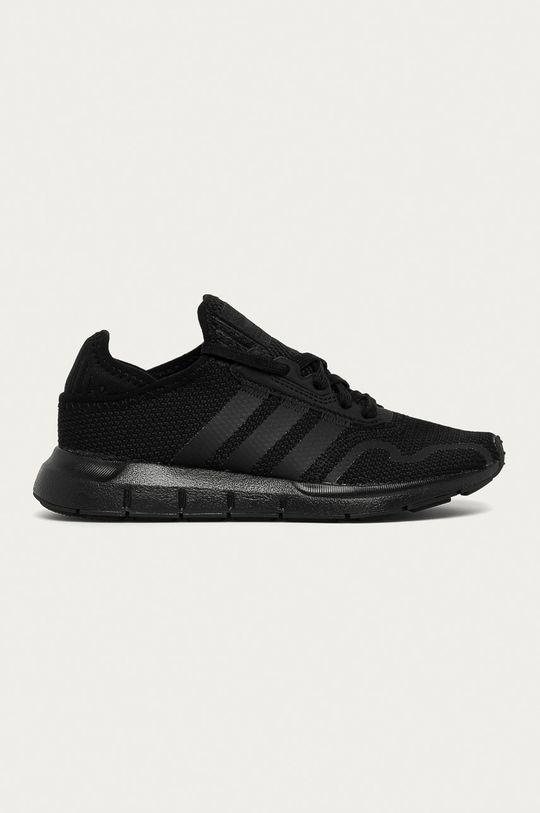 čierna adidas Originals - Detské topánky Swift Run X J Chlapčenský