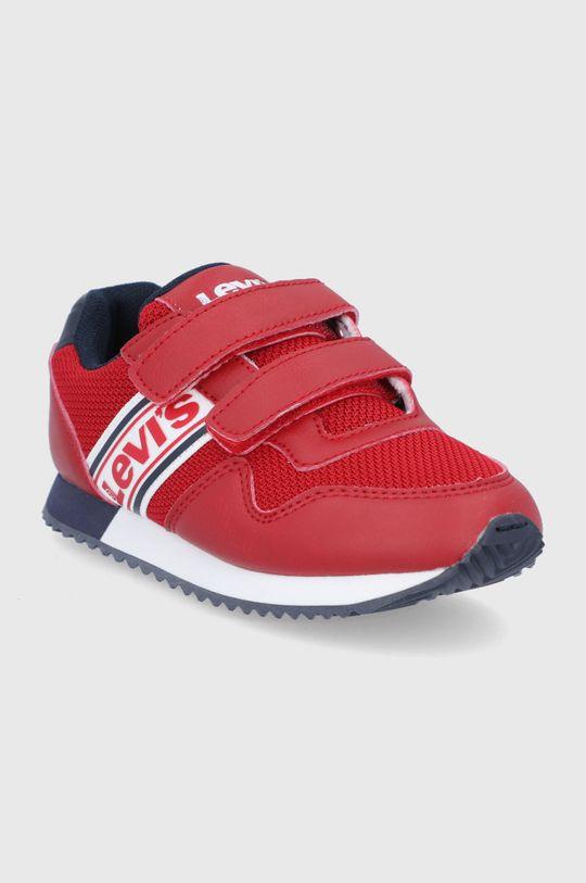 Levi's - Detské topánky sýtočervená