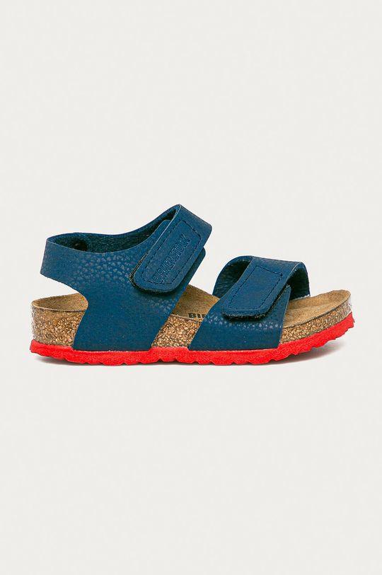 námořnická modř Birkenstock - Dětské sandály Palu Kids Logo Chlapecký